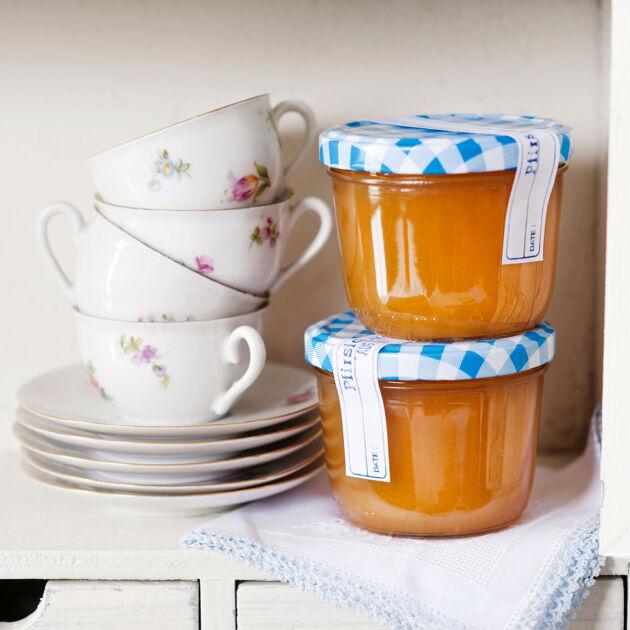 pfirsich mango konfit re mit rum rezept k cheng tter. Black Bedroom Furniture Sets. Home Design Ideas
