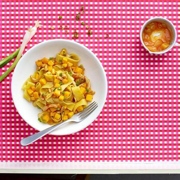 Prächtig Nudeln mit Hähnchen und Mango Rezept   Küchengötter #VZ_48