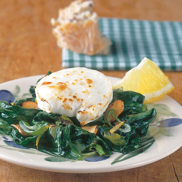 Spinat mit Ziegenkäse Rezept | Raclette | Küchengötter