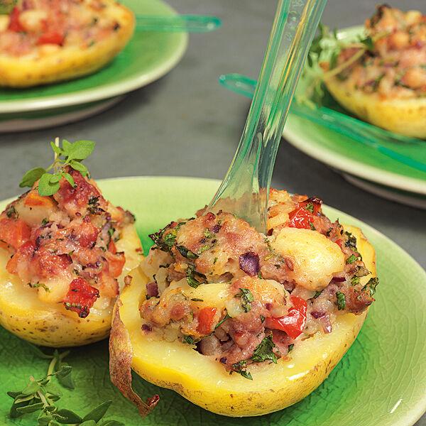 Rezept Kartoffel Hackfleisch gefüllte kartoffeln mit hack rezept küchengötter