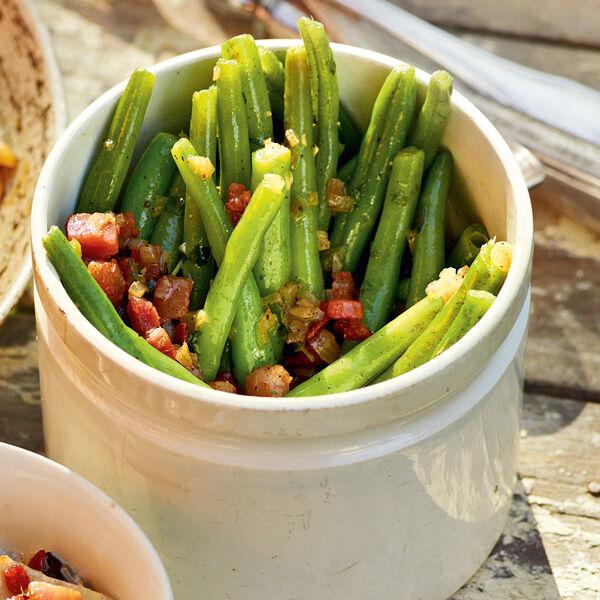 Traditionelle Grüne Bohnen Mit Speck Rezept Küchengötter