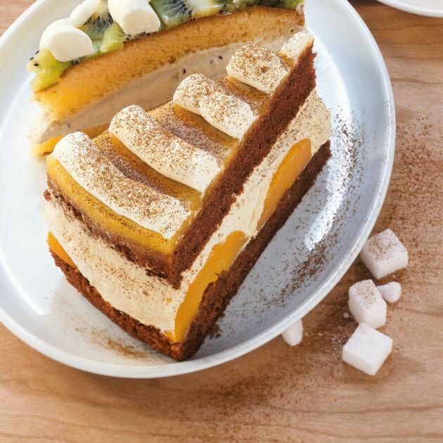 Cappuccino Pfirsich Torte Rezept Kuchengotter