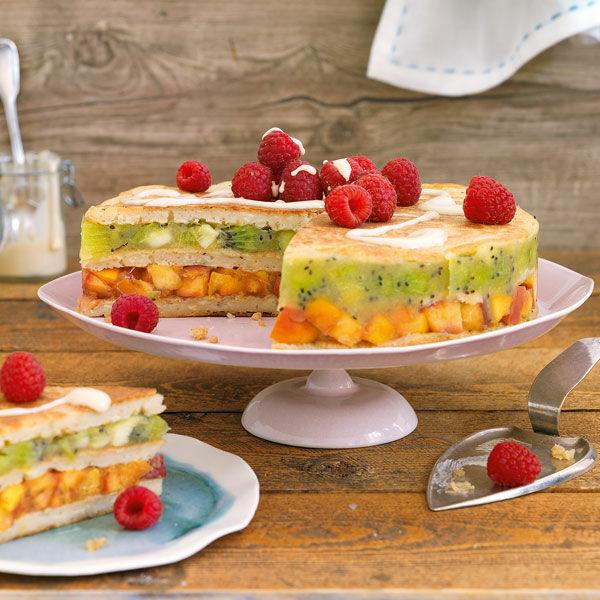Vegane Pancake Torte Rezept Kuchengotter