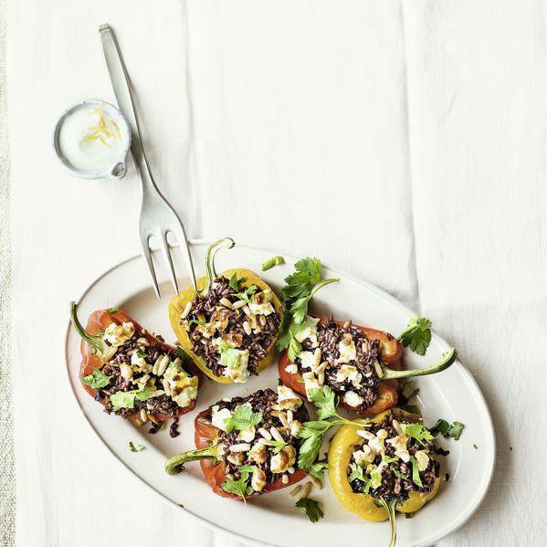 Gefüllte Paprika Mit Feta Rezept Küchengötter