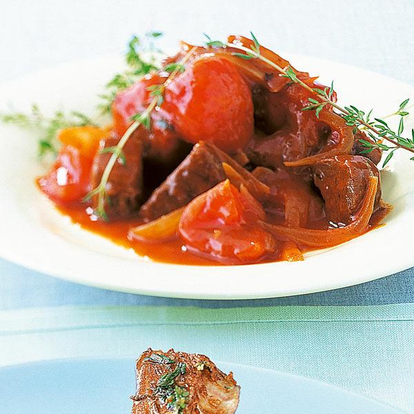 Rinds Tomaten Gulasch Rezept Küchengötter