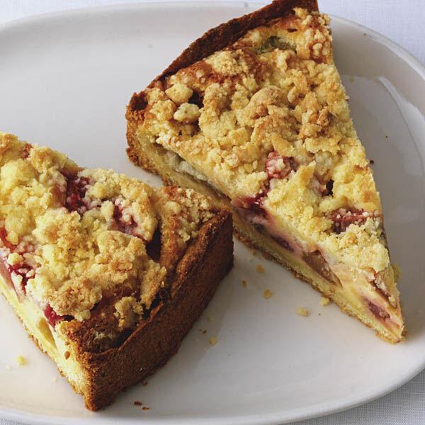 Rhabarber Streuselkuchen Rezept Kuchengotter