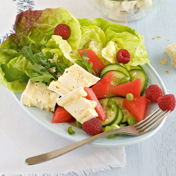 salat mit camembert rezept k cheng tter. Black Bedroom Furniture Sets. Home Design Ideas