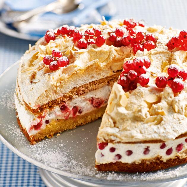 Johannisbeer Torte Mit Ingwerbaiser Rezept Kuchengotter