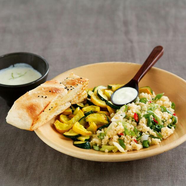 Schneller Couscous-Salat mit Joghurt Rezept | Küchengötter