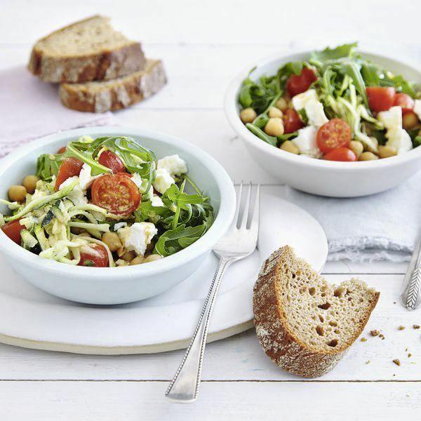 kichererbsen zucchini salat rezept k cheng tter. Black Bedroom Furniture Sets. Home Design Ideas