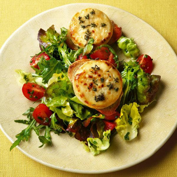 Gratinierter Ziegenkäse Mit Jungem Blattsalat Rezept Küchengötter
