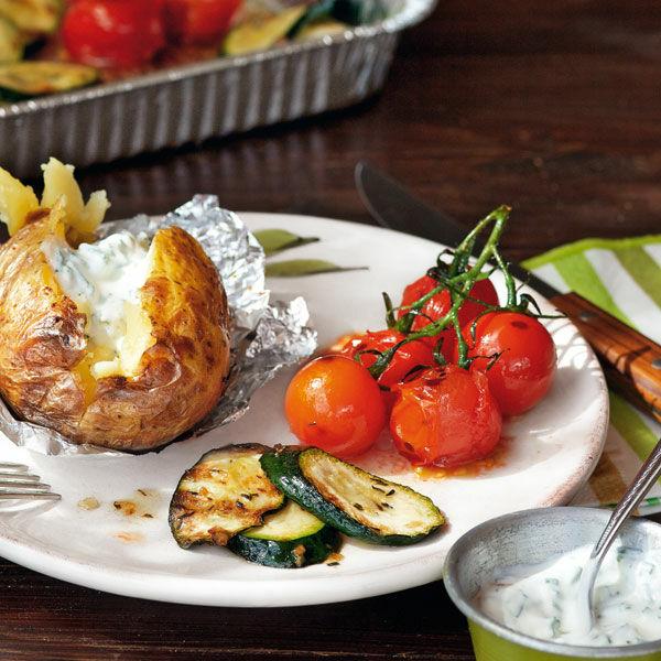 Grillgemuse Und Folienkartoffeln Mit Dip Rezept Kuchengotter