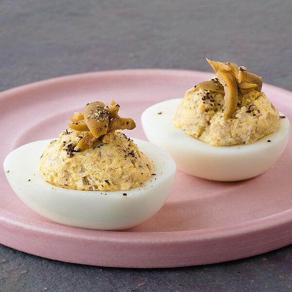 Oliven eier rezept k cheng tter - Eier hart kochen zeit ...
