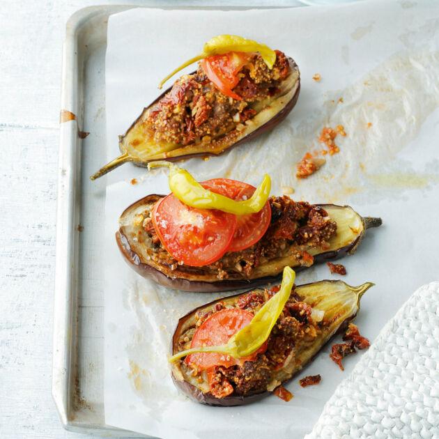 Gefüllte Auberginen mit Hackfleisch Rezept | Küchengötter