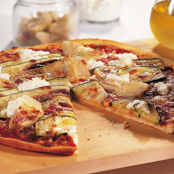 zucchini artischocken pizza mit kapern rezept k cheng tter. Black Bedroom Furniture Sets. Home Design Ideas
