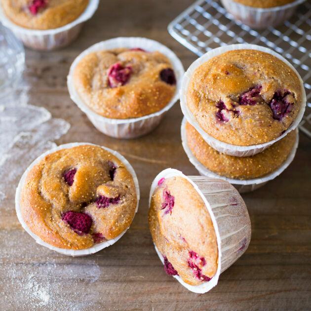 Himbeer Amaranth Muffins Mit Stevia Kuchengotter