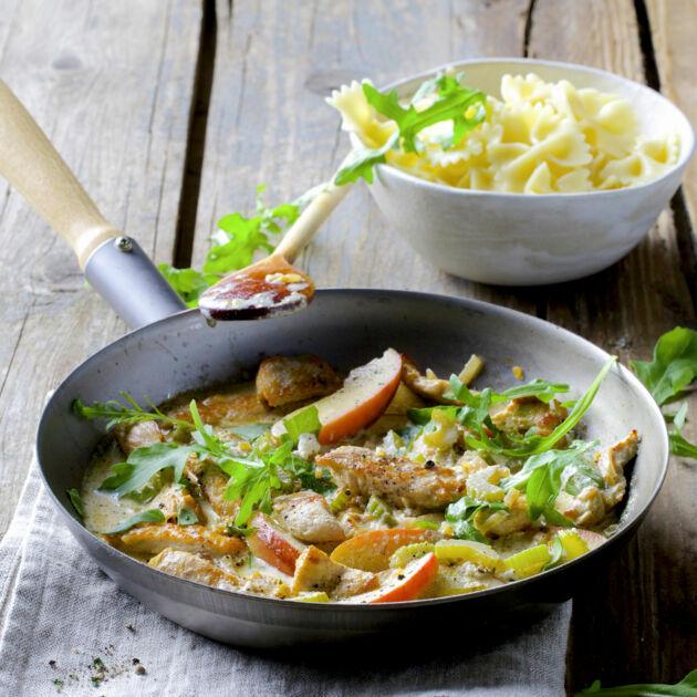 Farfalle mit Putenragout Rezept | Küchengötter