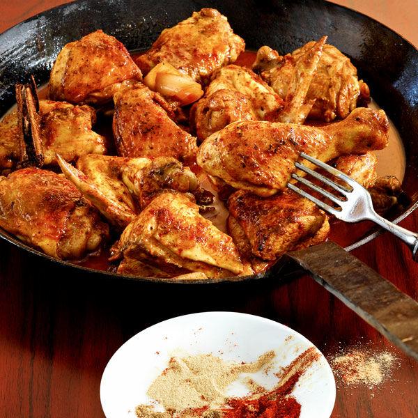 Hähnchen orientalisch in Sherry geschmort Rezept   Küchengötter