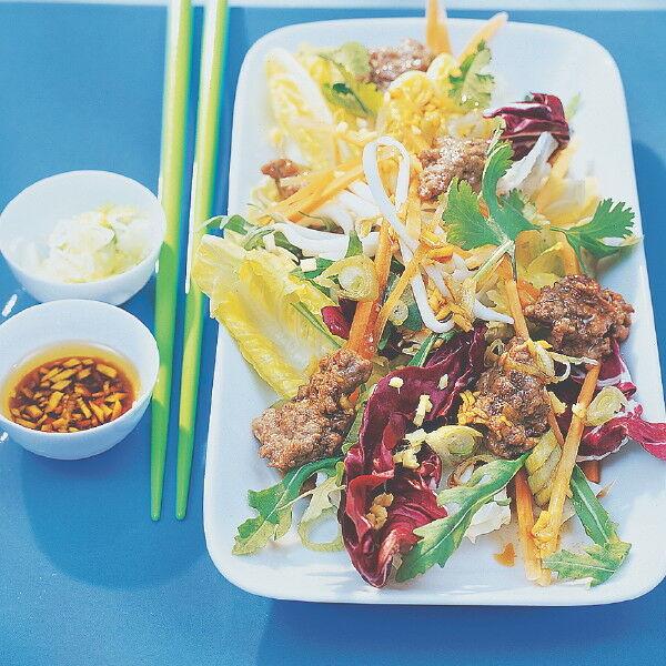 asia salat mit hack rezept k cheng tter. Black Bedroom Furniture Sets. Home Design Ideas