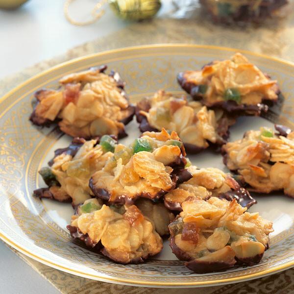 Florentiner Weihnachtsplätzchen.Florentiner Mit Kandierten Früchten