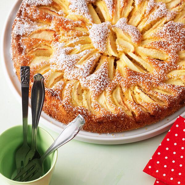 Versunkener Apfelkuchen Rezept Kuchengotter