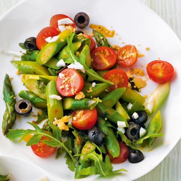 Grüner Spargelsalat Rezept   Küchengötter