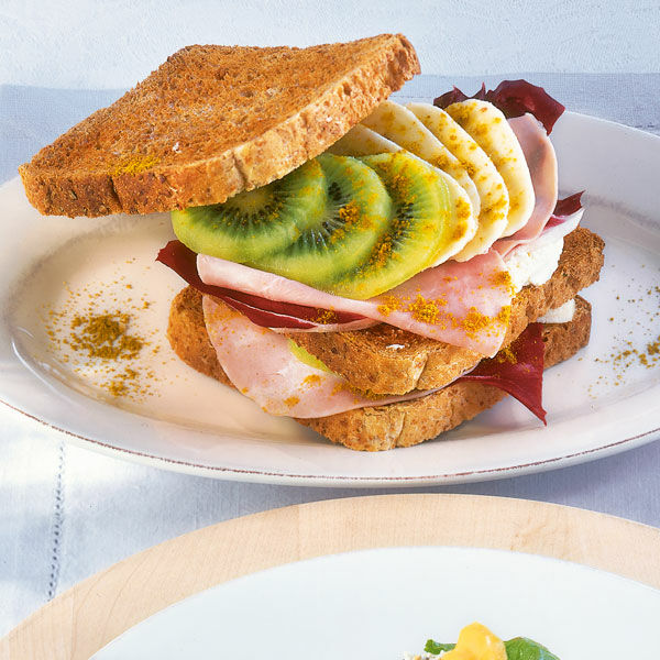 schinken sandwich mit frucht rezept k cheng tter. Black Bedroom Furniture Sets. Home Design Ideas