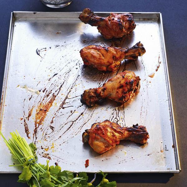 tandoori chicken drums mit korianderdip rezept k cheng tter. Black Bedroom Furniture Sets. Home Design Ideas