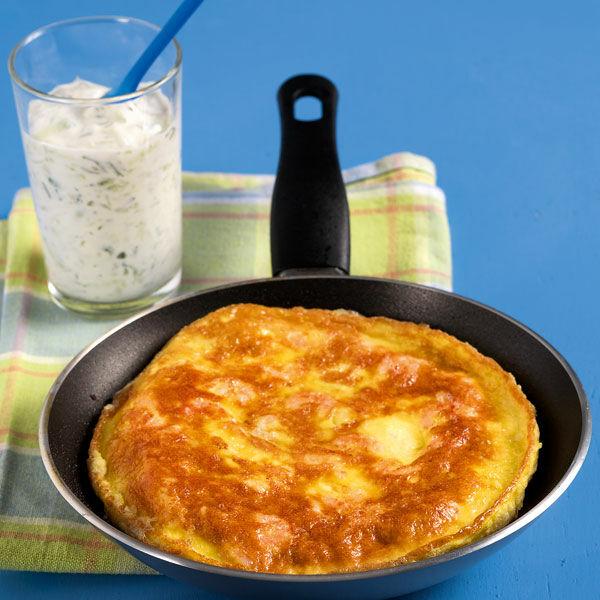 omelett mit krabben und gurkendip rezept | küchengötter - Küchengötter Schlank Im Schlaf