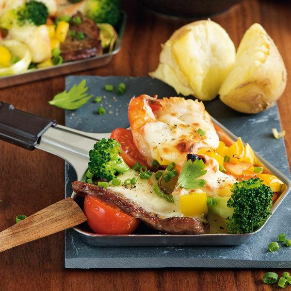 Raclette mit Gemüse und Rinderfilet Rezept | Küchengötter