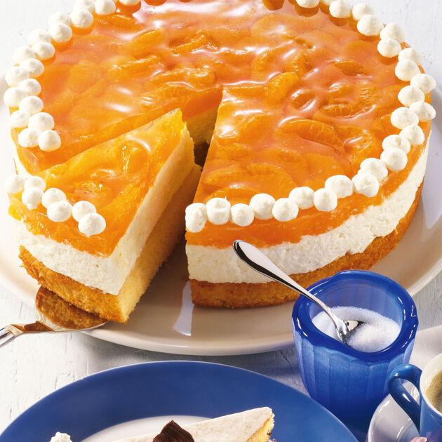 Huttenkase Mandarinen Torte Rezept Kuchengotter