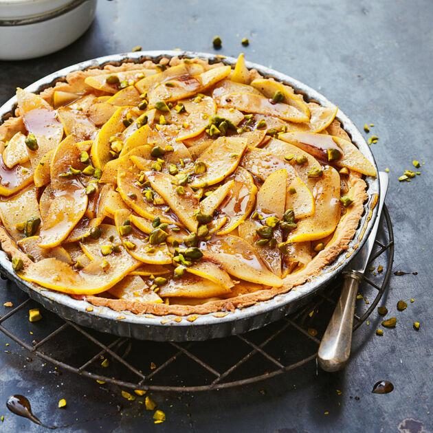 Vegane Vanilletarte mit Quitten Rezept | Küchengötter