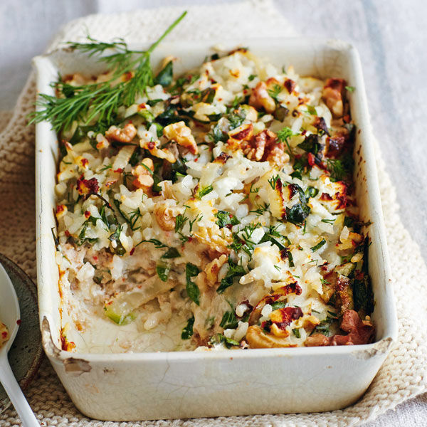 Reisauflauf Mit Mangold Rezept Küchengötter