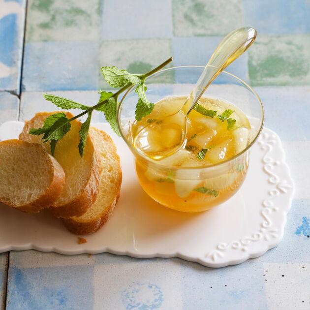Birnenkonfitüre mit Minze Rezept | Küchengötter