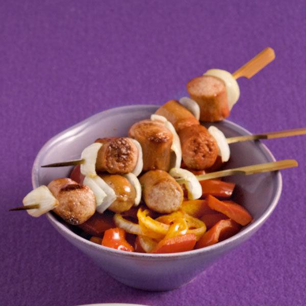 schaschlik mit paprikagemüse rezept | küchengötter - Küchengötter Schlank Im Schlaf