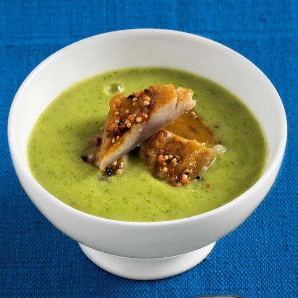 zucchinisuppe mit pfeffermakrele rezept | küchengötter - Küchengötter Schlank Im Schlaf