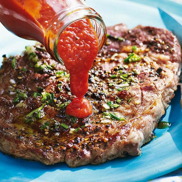 Pfefferige Rib Eye Steaks Vom Grill Rezept Küchengötter