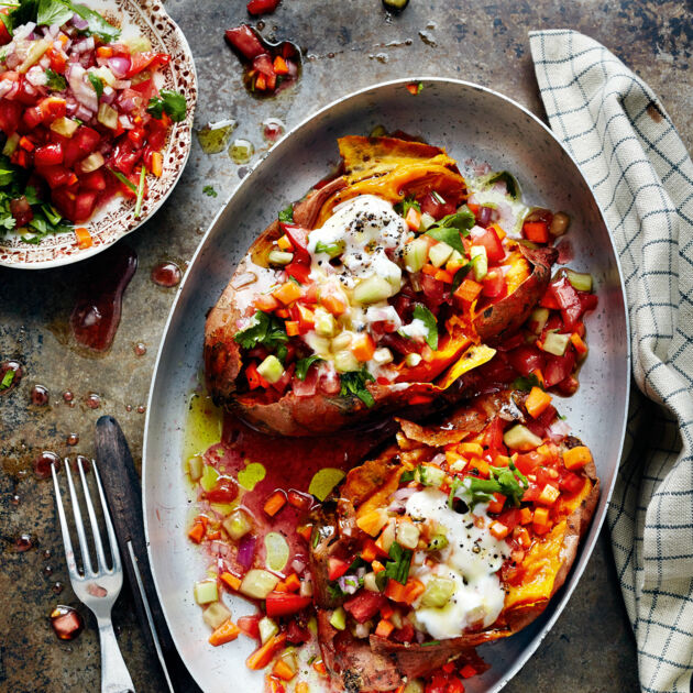 Tatlı Patates Kumpir Gefüllte Süßkartoffeln Rezept Küchengötter