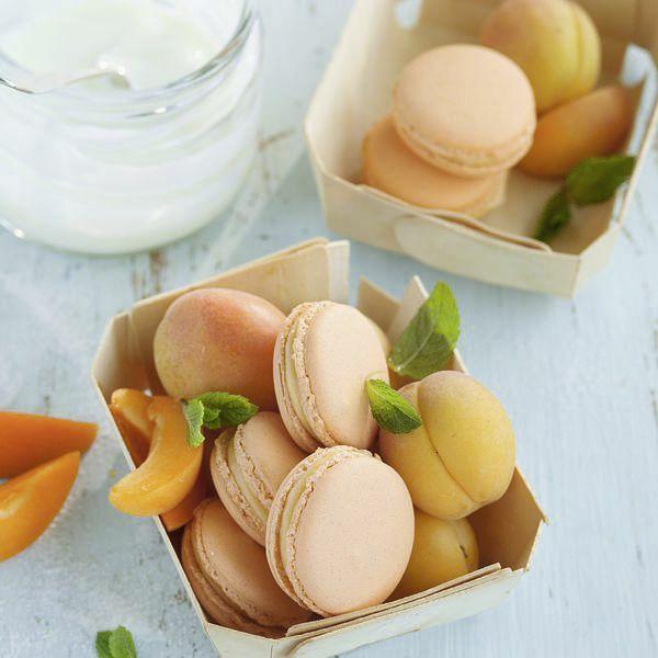 aprikosen joghurt macarons rezept k cheng tter. Black Bedroom Furniture Sets. Home Design Ideas