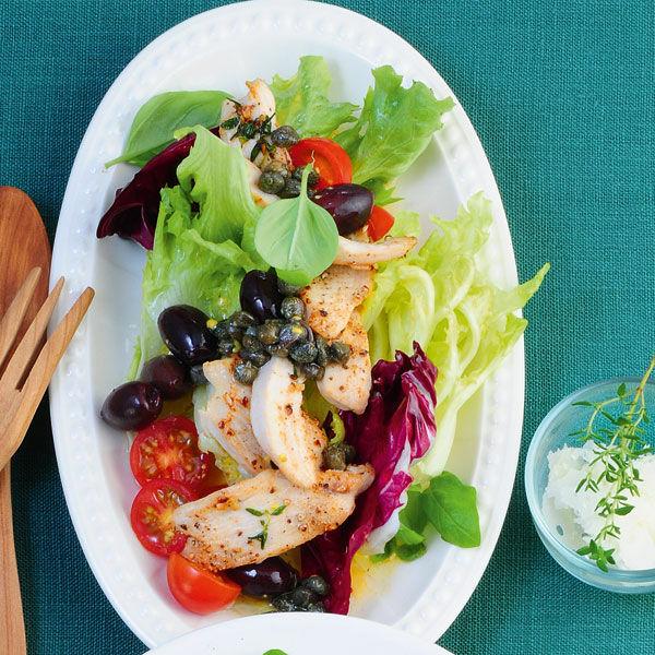 Bunter Salat Mit Hähnchenbrust Rezept Küchengötter