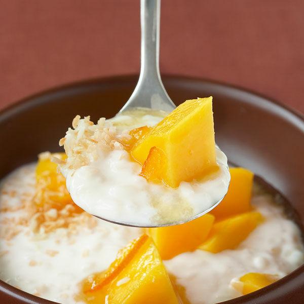 kokos milchreis mit mango rezept k cheng tter. Black Bedroom Furniture Sets. Home Design Ideas