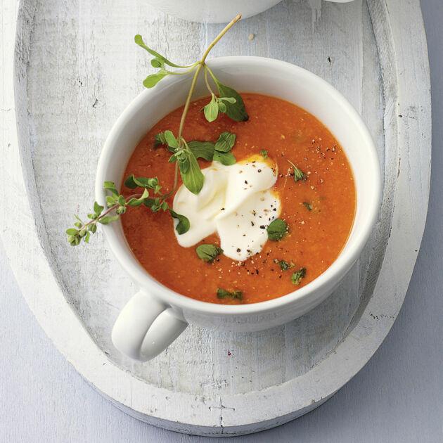 Rote Linsen-Paprika-Suppe Rezept | Küchengötter