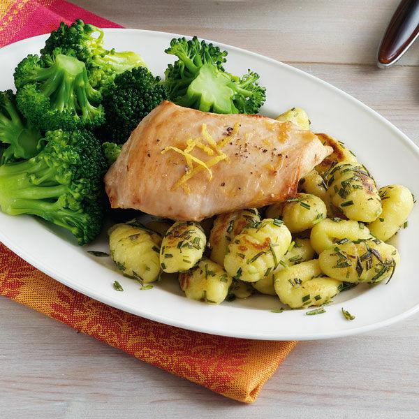 zitronen-hähnchen mit rosmarin-gnocchi rezept | küchengötter - Küchengötter Schlank Im Schlaf