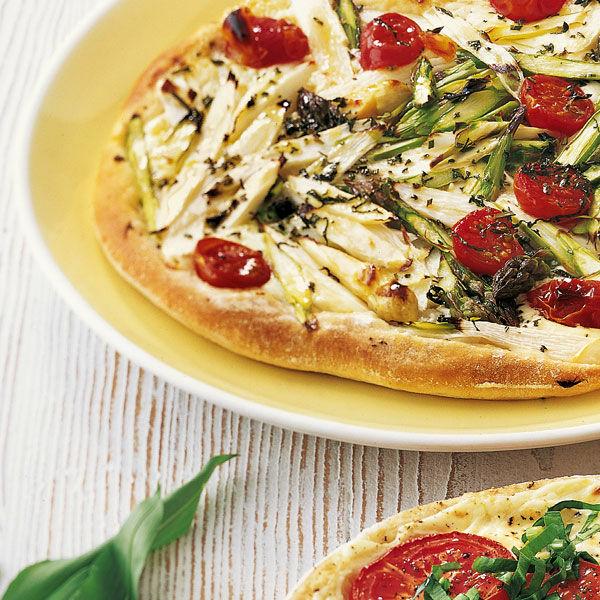 pizza mit spargel