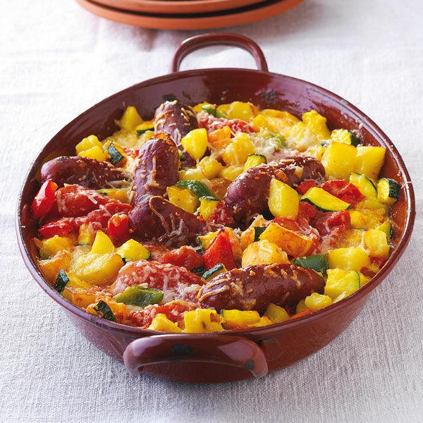 Spanischer Gemüseauflauf mit Chorizo Rezept | Küchengötter