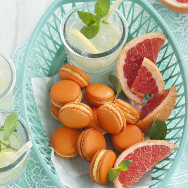 Grapefruit-Macarons Rezept | Küchengötter