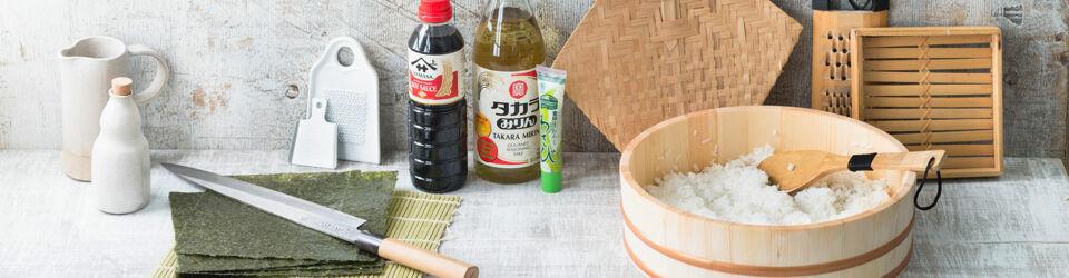 sushi selber machen die wichtigsten utensilien und sushi zutaten k cheng tter. Black Bedroom Furniture Sets. Home Design Ideas