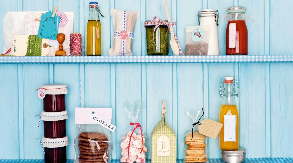 verpackungen und etiketten f r geschenke aus der k che k cheng tter. Black Bedroom Furniture Sets. Home Design Ideas