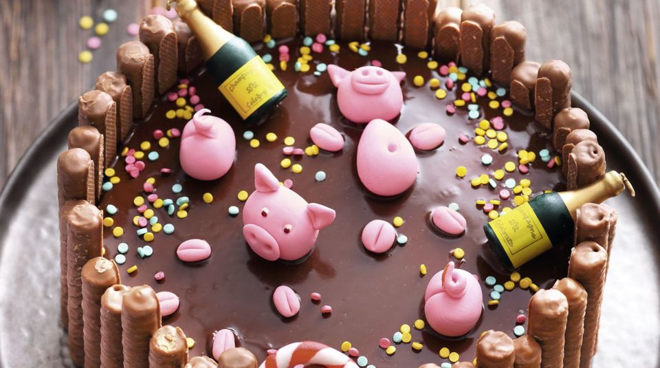 Oink, oink … Pool-Party