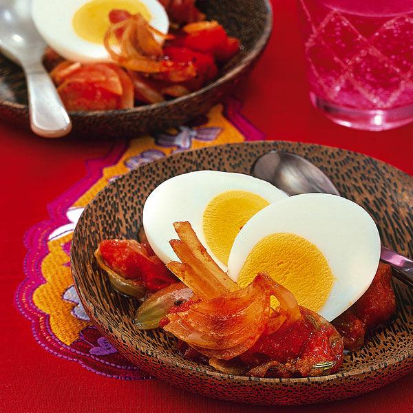 Eier auf zwiebelbett rezept k cheng tter - Eier kochen dauer ...